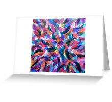 Colliding Color Creates Greeting Card