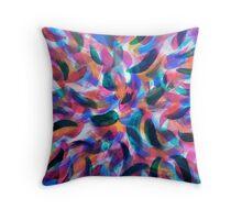 Colliding Color Creates Throw Pillow