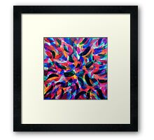 Colliding Color Creates 2 Framed Print