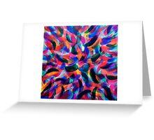 Colliding Color Creates 2 Greeting Card