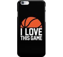 I Love This Game iPhone Case/Skin