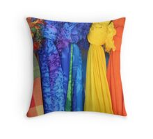 Colorful Fabrics Throw Pillow