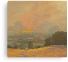 Summer Evening over the Cheviot Hills. Canvas Print
