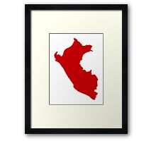 Peru map  Framed Print