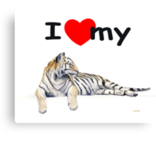 I love my Tiger (light) Canvas Print