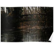 mill pond casting light Poster