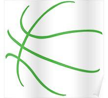Basketball Green Poster