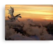 dragon sunrise Canvas Print
