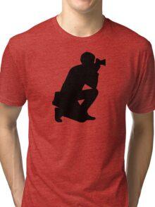 Photographer camera Tri-blend T-Shirt