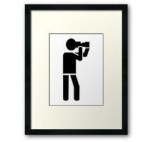 Photographer logo Framed Print