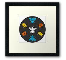 bugs - papercut patterns Framed Print