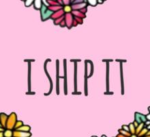I Ship It Heart Sticker