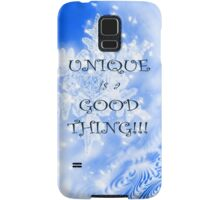 Winter Unique as a Snowflake positive uplifting quote saying Samsung Galaxy Case/Skin