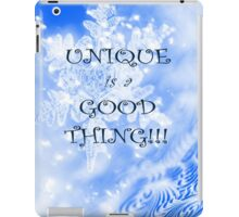 Winter Unique as a Snowflake positive uplifting quote saying iPad Case/Skin