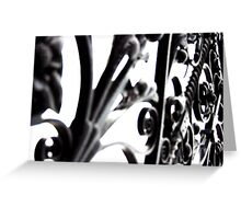 Metal Swirls Greeting Card
