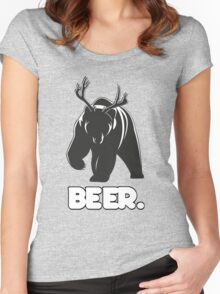 Beer! The Alcoholic Bear Deer Women's Fitted Scoop T-Shirt