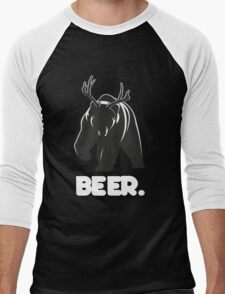Beer! The Alcoholic Bear Deer Men's Baseball ¾ T-Shirt