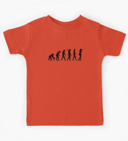 Evolution Photographer Kids Tee