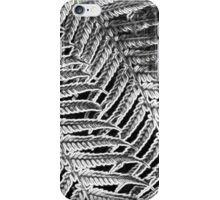 Ferns in Black and White iPhone Case/Skin