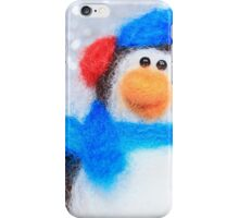 Cute Winter Penguin Funny Holiday Art iPhone Case/Skin