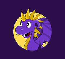 Purple dragon cartoon by Radka Kavalcova