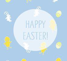 Happy Easter! (Blue) by Prettyinpinks