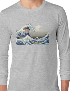 Cookie wave monster Long Sleeve T-Shirt
