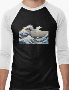 Cookie wave monster Men's Baseball ¾ T-Shirt