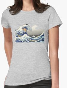 Cookie wave monster Womens Fitted T-Shirt
