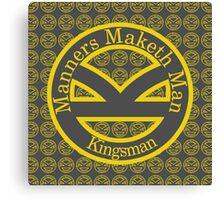 Manners Maketh Man [Kingsman] Canvas Print