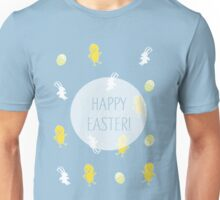 Happy Easter! (Blue) Unisex T-Shirt