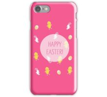 Happy Easter! (Pink) iPhone Case/Skin