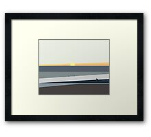 Ocean Sunset in Makaha Hawaii Framed Print