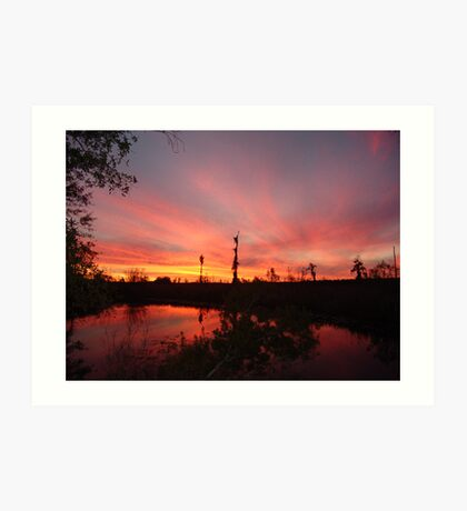 Sunset Lightshow Art Print