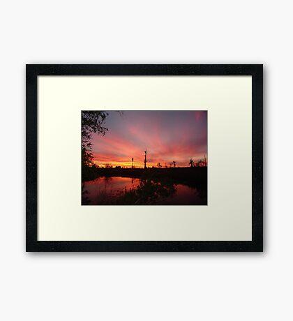 Sunset Lightshow Framed Print