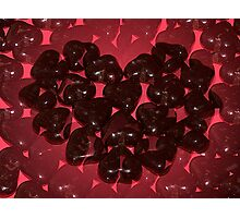 Chocolate Candy Hearts Illusions Photographic Print