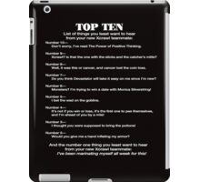 Xcrawl Top Ten List iPad Case/Skin