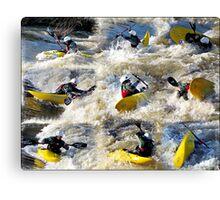 Kayak Mania  Canvas Print