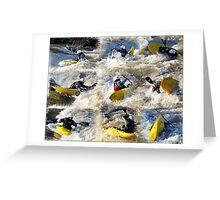 Kayak Mania  Greeting Card