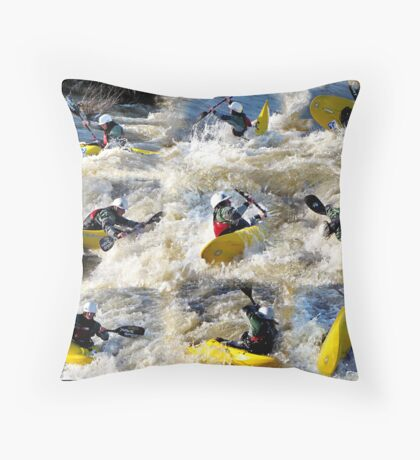 Kayak Mania  Throw Pillow