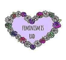Feminism is Rad Heart by foreversarahx