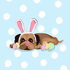 Easter Pug by Prettyinpinks