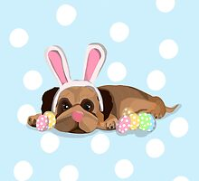 Easter Pug by Prettyinpinks
