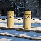 Sandusky Ohio - Snowy Pillars by SRowe Art