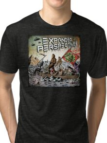 Expanded Perspectives Podcast aliens bigfoot conspiracies big foot sasquatch pyramids ancient america history cryptid crypto monster illuminati egypt Tri-blend T-Shirt
