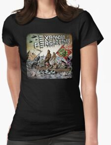 Expanded Perspectives Podcast aliens bigfoot conspiracies big foot sasquatch pyramids ancient america history cryptid crypto monster illuminati egypt Womens Fitted T-Shirt