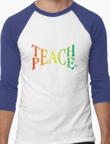 Teach Peace Men's Baseball ¾ T-Shirt