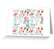 Mixed colors triangles Greeting Card