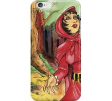 Red Riding Hood in the Woods iPhone Case/Skin