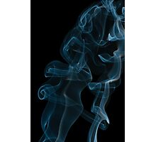 curled and twisted smoke abstract Photographic Print